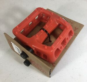 """ODYSSEY BMX Bike Pedal Twisted PRO PC 9/16"""" RED Bicycle NEW UNOPENED"""