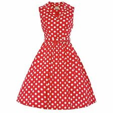 NEW VINTAGE 50'S STYLE MATILDA RED POLKA ROCKABILLY SWING PARTY DRESS SIZE 22