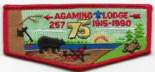 S10 Agaming Lodge 257 Order of the Arrow OA Flap Boy Scouts of America BSA
