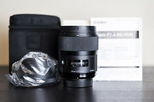 Sigma AF 35mm 1.4 DG Art FX Prime Lens - For Nikon - US Model!