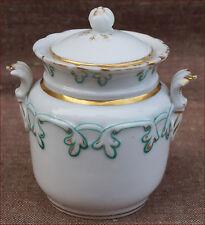 French Gilt Paris Porcelain Sugar Bowl with Lid 1850 Louis Philippe Era