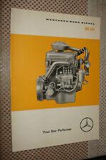 MERCEDES DIESEL OM636 SALES BROCHURE SHOWROOM SALES PICTURE BOOK ORIGINAL RARE!!
