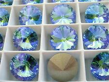2 Aquamarine Glacier Blue Swarovski Crystal Rivoli Stone 1122 14mm