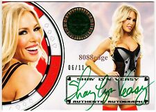 2012 BENCHWARMER VEGAS BABY AUTO: SHAY LYN VEASY #6/11 OF GREEN AUTOGRAPH