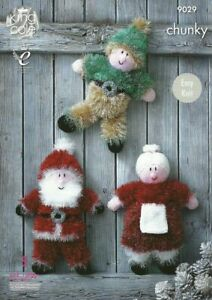 King Cole Tinsel Chunky Patterns Father Christmas Elf