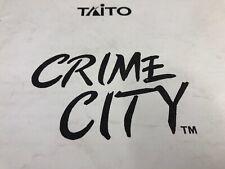 Taito Crime City Arcade Machine Operating Manual Free Ship