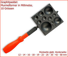 -NEU- Graphitpaddel / Murmelformer 10in1: 12 bis 50mm (10 Größen in Millimeter!)