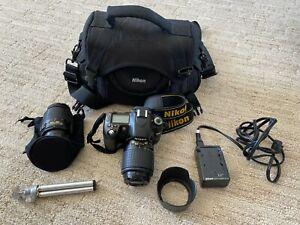 Nikon D80 10.2MP Digital DSLR Camera w/ 18-55 lens and 55-200 Telephoto+more