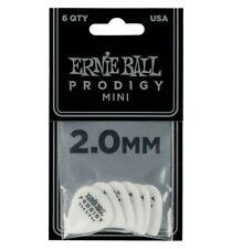 Ernie Ball Prodigy Guitar Picks White 2.0 mm Mini