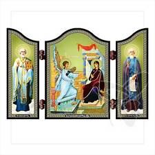 Holz Triptychon Ikone Grigori Григорий Богослов икона Neuheit