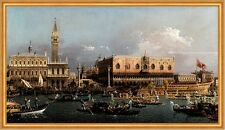 The Bucintoro at the Molo on Ascension Day Giovanni Canal Venedig B A1 02084
