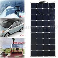 140W 12V Semi Flexible Solar Panel Battery Charger For RV Boat Caravan Motorhome