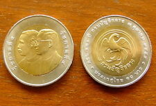 10 Thai Baht Bimetall 120. Generals Department Thailand Nr. 57 von 2011