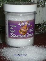 DIAMOND DUST Glass Glitter 6 Ounce Jar Sparkle Crafts Weddings Christmas