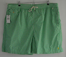 RALPH LAUREN POLO green white check swimming shorts trunks 4XL 4X 4XB XXXXL BIG