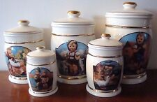 5pc Danbury Mint M I Hummel Canister Collection Cookie Jar & 4 Canisters Vintage