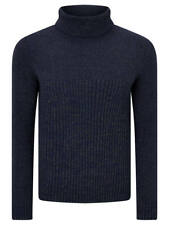 ORIGINAL PENGUIN WOOL POLO NECK JUMPER (SIZE S) DARK SAPPHIRE RRP £95