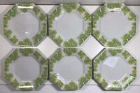 Shafford the Salad Bar - Set of 6 Small Fine Porcelain Plates - Green Lettuce
