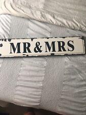 Mr & Mrs Sign Rustic Look
