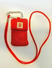 10 Carry-All stretchable pouches with carabiner and neck strap-RED Maltese Cross