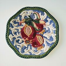 Fitz & Floyd Decorative Plate Display Wall Decor 3D Florentine Fruit Pomegranate