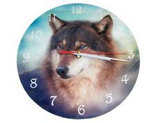 Winston Wolf Clock - 25cm by Cindy Grundsten