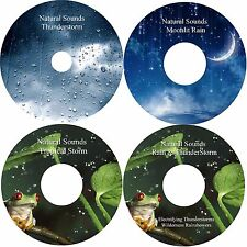 Natural Sounds Rain Thunder 4 CDs Relaxation Stress Relief Sleep Aid Healing