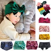 Cute Kids Girls Baby Toddler Velvet Headband Hair Bow Band Accessories Headwear