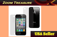 Front & Back Clear Screen Protector Film for Apple iPhone i Phone 4 4s 4G NEW