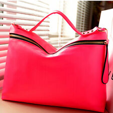 Women PU Leather Handbag Shoulder Bag Crossbody Bag Red