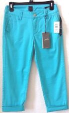 Womens Sz 2 Turquoise Pants/Capris JAG Slim Fit Cotton/Spandex Cuffed/Crop NWT