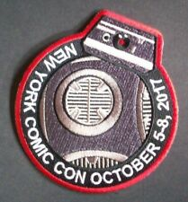 Star Wars New York Comic Con 2017 BB-8 Embroidered Patch -new