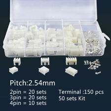 50 Set 2-4Pin 150pc Assorted Crimp Terminal Insulated Electrical Wire Connector