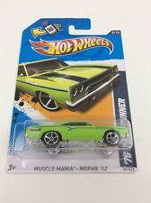 HW 2012 Muscle Mania Mopar 1970 Road Runner 440 CID  89/247  9/10 Green Blk Strp