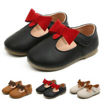 Toddler Kids Baby Girls Leather Bowknot Party Princess Shoes Sandals Boot