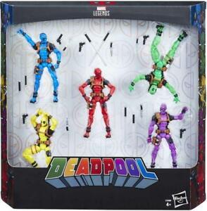 "Deadpool Rainbow Squad - 3.75"" Action Figure 5 Pack - Marvel Legends Series -NEW"