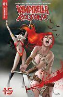 Vampirella Red Sonja #1 Paralel Evren Istanbul Gunduz Exclusive Variant signed