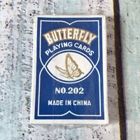Rare Vintage Chinese Butterfly Playing Cards Deck No. 202 Blue Pack Sealed