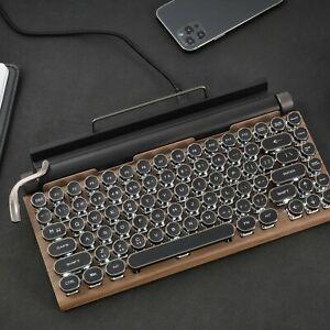 Dot Retro Typewriter Keyboard Wireless Bluetooth Mechanical Keyboard Gaming KB