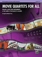 Movie Quartets For All/Alt Sax; Story,M, Mixed ensemble, ALFGB - 33540