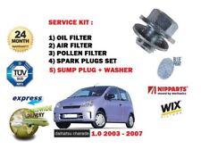 für Daihatsu Farce 1.0 2003-2007 ÖL LUFT POLLEN FILTER KIT + + Ölwanne