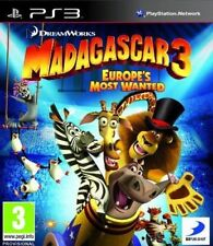 Madagascar 3: Europa Most Wanted (PS3 Juego) * Buen Estado *
