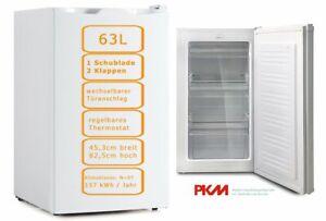 Gefrierschrank 63L freistehend 85 x 45 cm breit Eisschrank Tiefkühlschrank