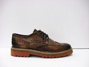 BRECOS 4702 scarpa uomo stile inglese pelle brandy suola vibram made in Italy