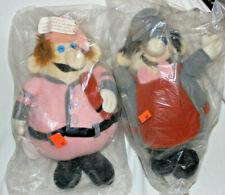 "RARE 1989 Pair Boardwalk And Baseball Theme Park 12"" Stuffed Dolls Homer Specs"