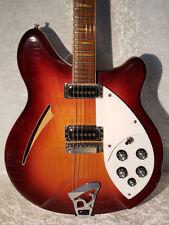 Rickenbacker 360 E.Guitar Free Shipping Sunburst USED with Hard Case 1990