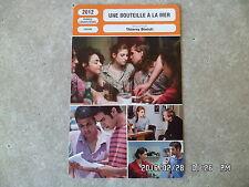 CARTE FICHE CINEMA 2012 UNE BOUTEILLE A LA MER Agathe Bonitzer Mahmmoud Shalaby