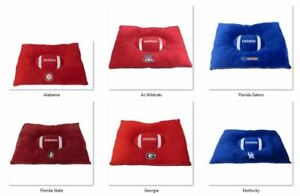 """NCAA Embroidered Pet Pillow Bed 30""""x20""""x4 by Pets First, Inc -Select- Team Below"""