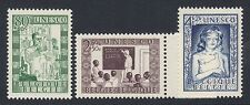 BELGIUM : 1951 UN Educational,Cultural & Scientific Funds set SG 1365-7 MNH