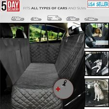 Waterproof Pet Dog Car Seat Cover Nonslip Backing & Hammock, Durable for Travel